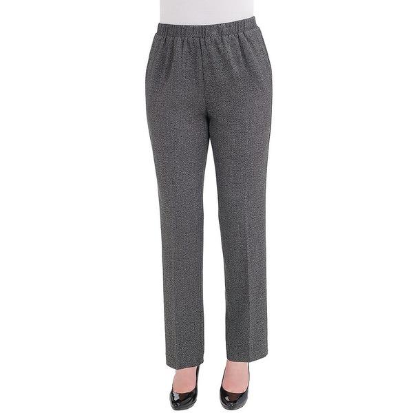 アリソンダーレイ レディース カジュアルパンツ ボトムス Pull-On Straight Leg Two-Way Stretch Menswear Pants Black Combo