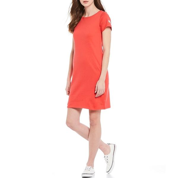 ジュールズ レディース ワンピース トップス Riviera Solid Cotton Short Sleeve Shift Dress Poppy