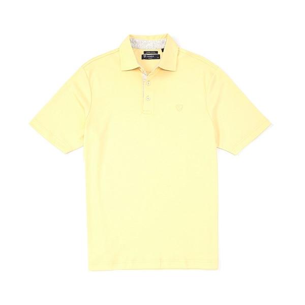 クレミュ メンズ ポロシャツ トップス Supima Cotton Solid Short-Sleeve Polo Shirt Ludlow Yellow