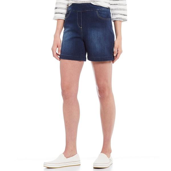 ウェストボンド レディース カジュアルパンツ ボトムス Petite Size the PARK AVE fit Shorts Blue Indigo