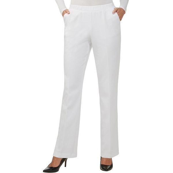 アリソンダーレイ レディース カジュアルパンツ ボトムス San Remo Knit Pull-On Straight Leg Pants White