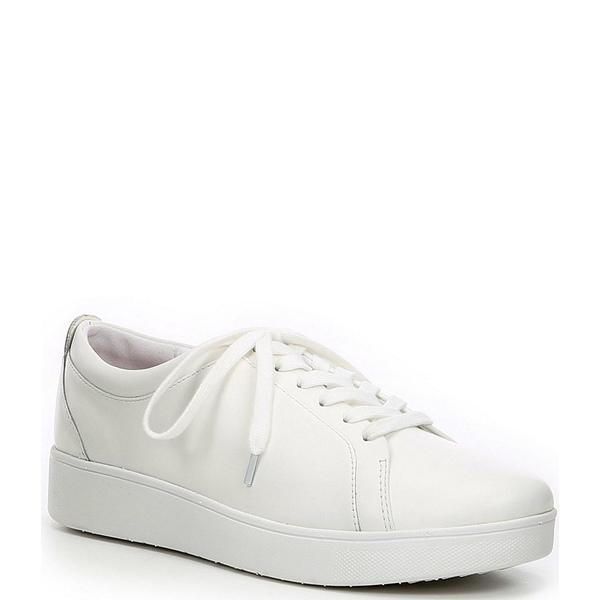 フィットフロップ レディース スニーカー シューズ Rally Leather Lace-Up Sneakers White