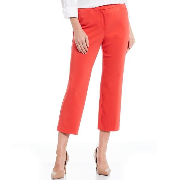インベストメンツ レディース カジュアルパンツ ボトムス Petite Size the 5th AVE fit Elite Stretch Crop Pant Poppy Red