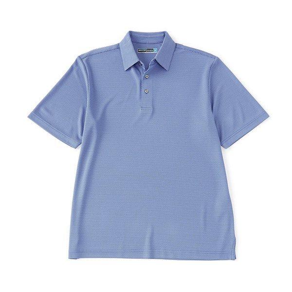 ランドツリーアンドヨーク メンズ ポロシャツ トップス Performance Short-Sleeve Jacquard Polo Dazzling Blue