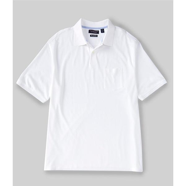 ランドツリーアンドヨーク メンズ シャツ トップス Big & Tall Short-Sleeve Supima Solid Polo White