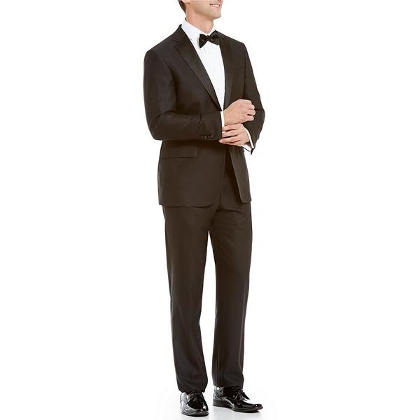 ハートシャファネールマークス メンズ ジャケット&ブルゾン アウター New York Modern-Fit Tuxedo Black