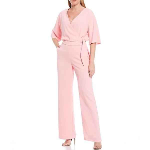 トリーナターク レディース ワンピース トップス Kai V-Neck Elbow Sleeve Wide Leg Jumpsuit Pink Icing