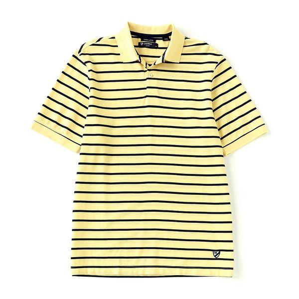 クレミュ メンズ ポロシャツ トップス Supima Cotton Stripe Short-Sleeve Polo Shirt Ludlow Yellow