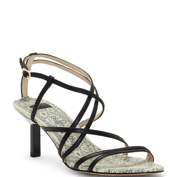 ルイスエシー レディース サンダル シューズ Hansel Snake Print Leather Strappy Dress Sandals Black