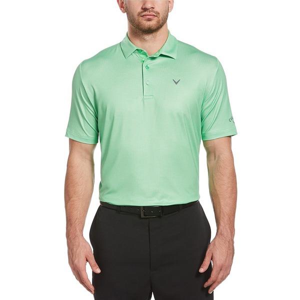 キャラウェイ メンズ シャツ トップス Golf Short-Sleeve Gingham Polo Irish Green