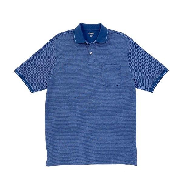 ランドツリーアンドヨーク メンズ ポロシャツ トップス Short-Sleeve Striped Pocket Polo Midnight Blue