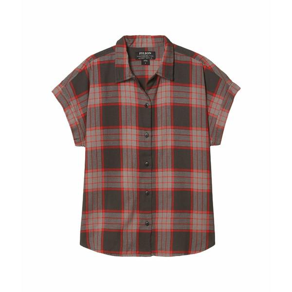 フィルソン レディース シャツ トップス Northwest Camp Shirt Black/Grey/Red Plaid