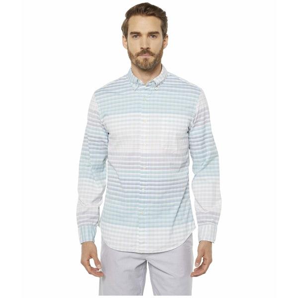 ジェイクルー メンズ シャツ トップス Organic Stretch Secret Wash Complicate Gingham Complicate Gingham Turquoise