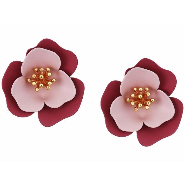 ヴィンスカムート レディース ピアス&イヤリング アクセサリー Post Flower Clip Studs Earrings Gold/Crystal/Soft Pink/Metallic Mauve