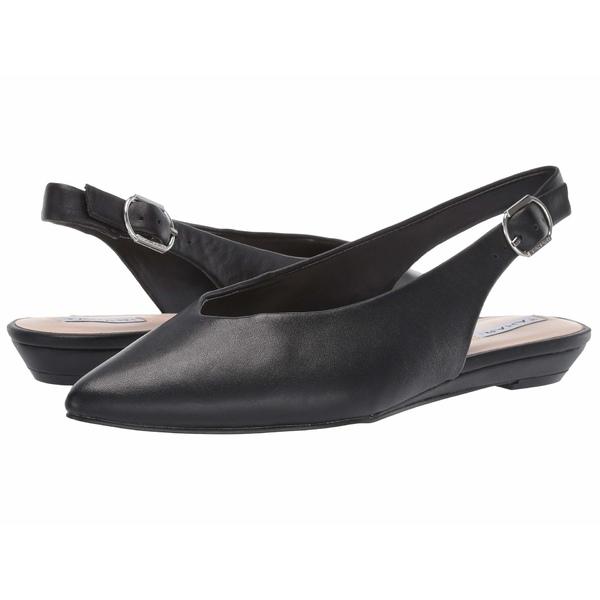 タハリ レディース サンダル シューズ Sandrine Slingback Flat Black Leather
