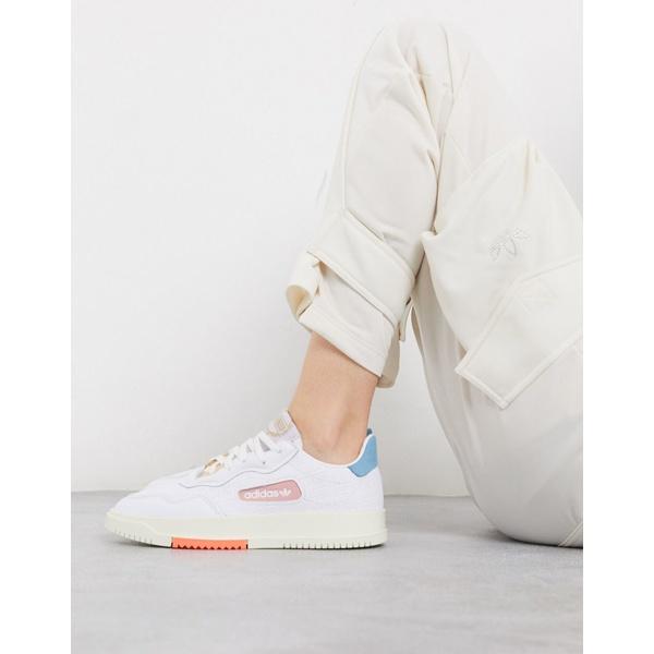 アディダスオリジナルス レディース スニーカー シューズ adidas Originals SC Premiere sneaker in white and pink White
