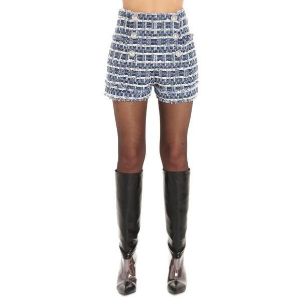 国内発送 バルマン レディース カジュアルパンツ ボトムス Balmain Tweed Double-Breasted Shorts -, マシケチョウ 80c20eb8