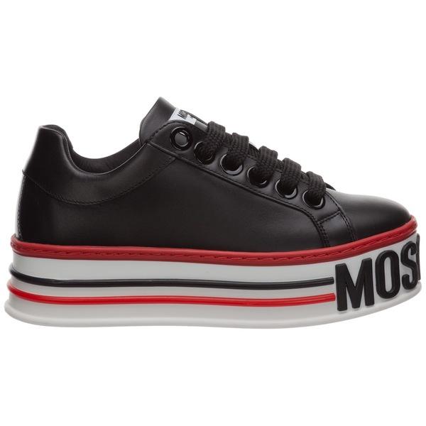 【オープニング大セール】 モスキーノ レディース スニーカー シューズ Moschino Logo Platform Sneakers -, ラケットプロショップ SUNFAST 1d31af49
