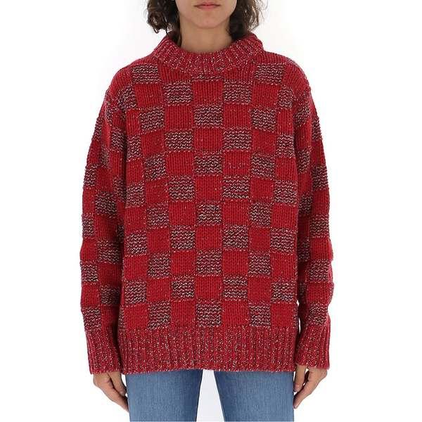 - Checked Crewneck アウター レディース マルニ ニット&セーター Sweater Marni