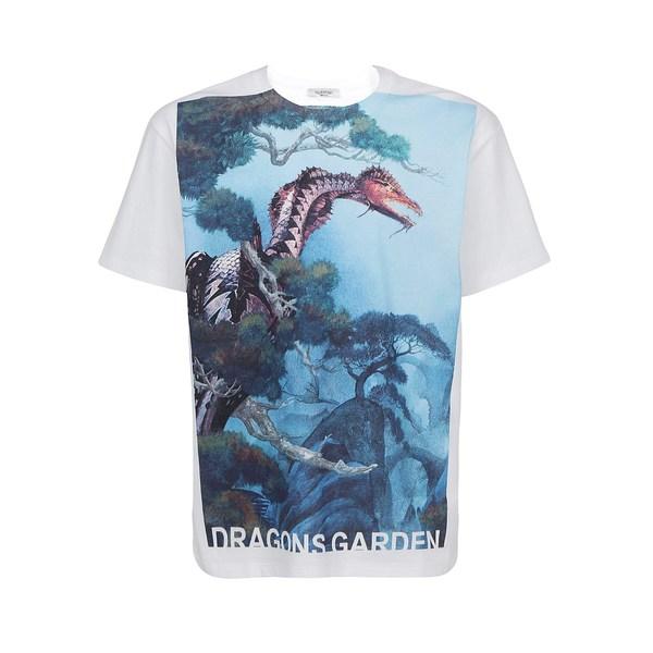 割引購入 ヴァレンティノ メンズ Tシャツ トップス Valentino Dragon Garden Print T-Shirt -, セレクトショップ コーブライミー d713bd2e