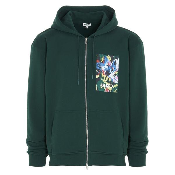 人気を誇る ケンゾー メンズ ニット&セーター アウター Kenzo X Vans Tulipes Print Zipped Hooded Sweatshirt -, 久々野町 ddc315ae