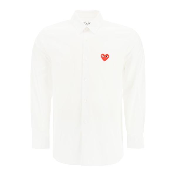 【好評にて期間延長】 コムデギャルソン メンズ シャツ トップス Comme des Garons Play Classic Shirt -, きねつき餅 餅人 871c5032