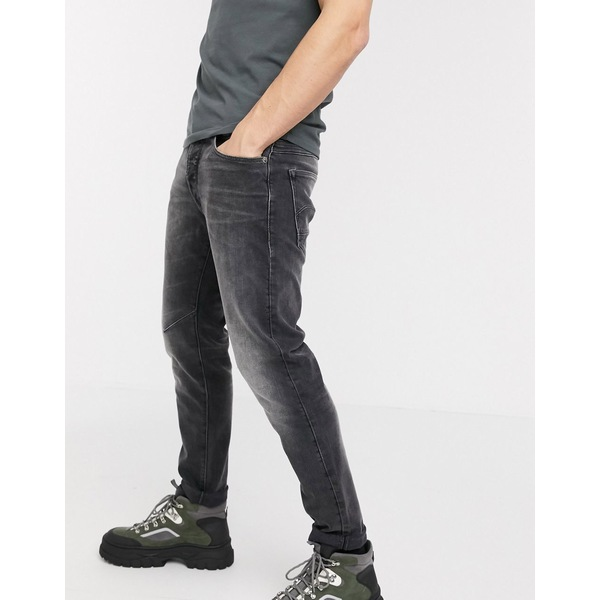 ジースター メンズ デニムパンツ ボトムス G-Star D-Staq slim fit 5 pocket jeans in gray Gray wash