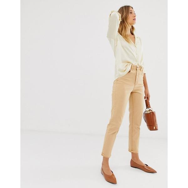 エイソス レディース デニムパンツ ボトムス ASOS DESIGN Farleigh high waist slim mom jeans in Orange Orange