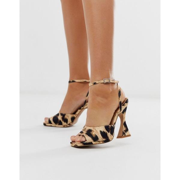 エイソス レディース ヒール シューズ ASOS DESIGN Hakka platform heeled sandals in leopard Leopard