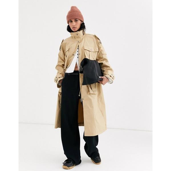 エイソス レディース ジャケット&ブルゾン アウター ASOS DESIGN utility longline cotton jacket in stone Stone