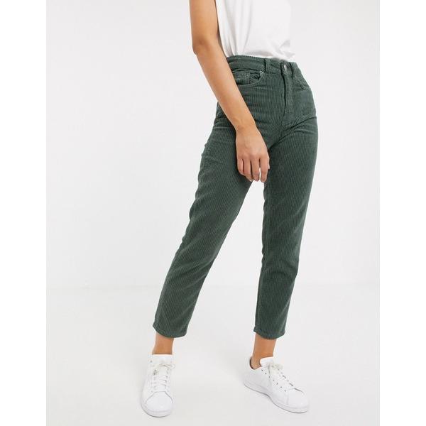 エイソス レディース デニムパンツ ボトムス ASOS DESIGN Ritson original mom jeans in jumbo cord Sage