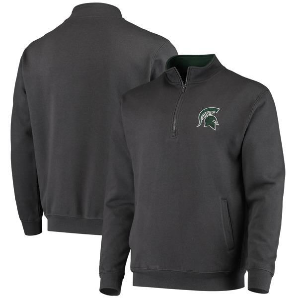 コロシアム メンズ ジャケット&ブルゾン アウター Michigan State Spartans Colosseum Tortugas Logo QuarterZip Pullover Jacket Heathered Gray