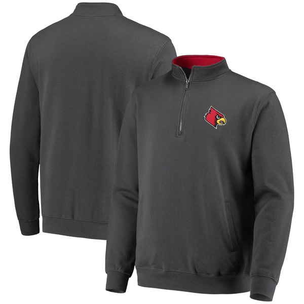 コロシアム メンズ ジャケット&ブルゾン アウター Louisville Cardinals Colosseum Tortugas Logo QuarterZip Jacket Charcoal