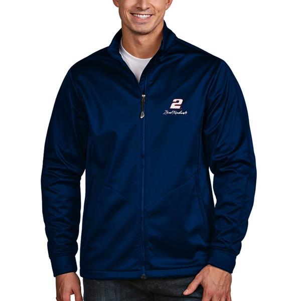 アンティグア メンズ ジャケット&ブルゾン アウター Brad Keselowski Antigua Golf FullZip Jacket Navy