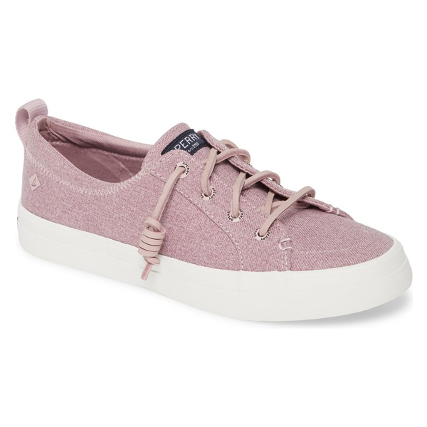 スペリー レディース スニーカー シューズ Sperry Crest Vibe Sneaker (Women) Lilac Sparkle Chambray Fabric