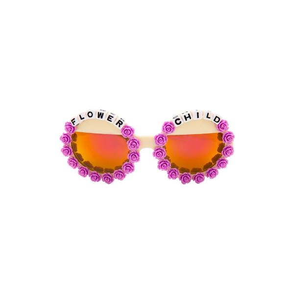 ラッドプラスリファインド レディース サングラス&アイウェア アクセサリー Rad + Refined Flower Child Mirrored Round Sunglasses Purple/ Cream