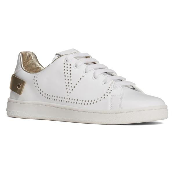 ヴァレンティノ ガラヴァーニ レディース スニーカー シューズ VALENTINO GARAVANI Net Perforated Court Sneaker (Women) White/ Platino