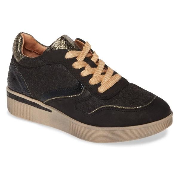 ケネスコール レディース スニーカー シューズ Gentle Souls by Kenneth Cole Haddie Jogger Sneaker (Women) Black Nubuck Leather