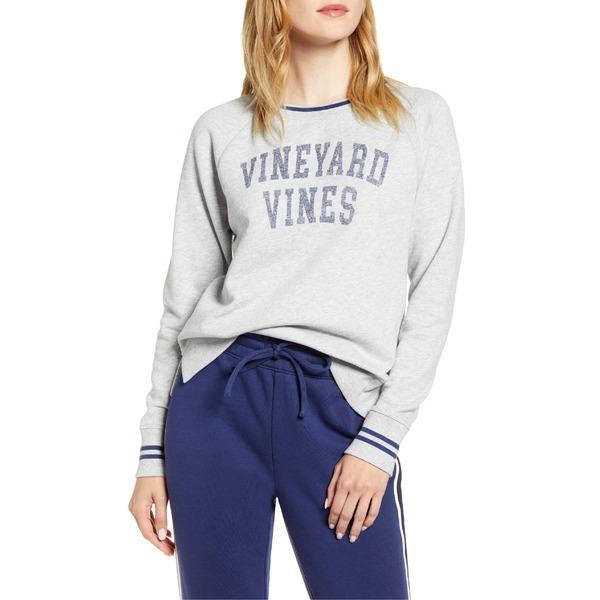 ヴァインヤードヴァインズ レディース パーカー・スウェットシャツ アウター vineyard vines Varsity Sweatshirt Light Heather Gray