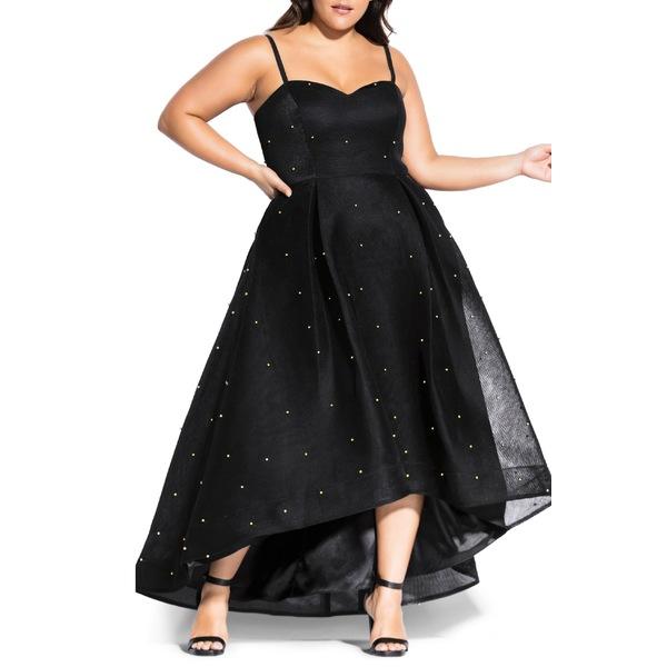 シティーシック レディース ワンピース トップス City Chic Sweet Jewel Evening Dress (Plus Size) Black