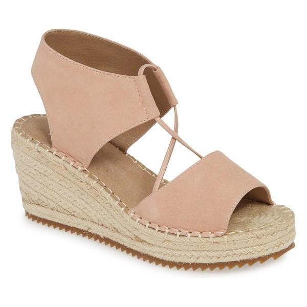 エイリーンフィッシャー レディース サンダル シューズ Eileen Fisher Whim Espadrille Wedge Sandal (Women) Blush Tumbled Nubuck Leather