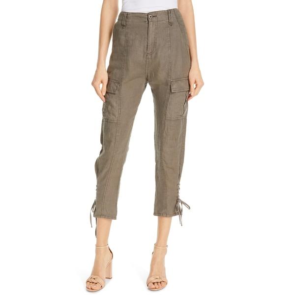 ジョア レディース カジュアルパンツ ボトムス Joie Telutci Tie Cuff Linen Cargo Pants Fatigue