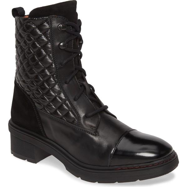 ヒスパニタス レディース ブーツ&レインブーツ シューズ Hispanitas Vista Lace-Up Boot (Women) Black Leather