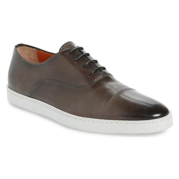 サントーニ メンズ スニーカー シューズ Santoni 'Durbin' Oxford Sneaker (Men) Grey