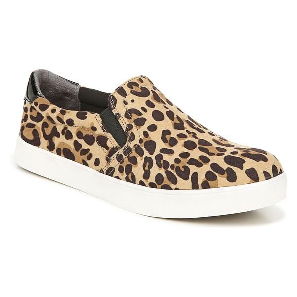 ドクター・ショール レディース スニーカー シューズ Dr. Scholl's Madison Slip-On Sneaker (Women) Tan/ Black Leopard Fabric