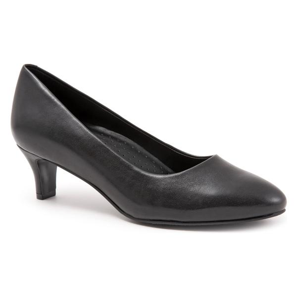 トロッターズ レディース パンプス シューズ Trotters Fab Pump (Women) Black Leather