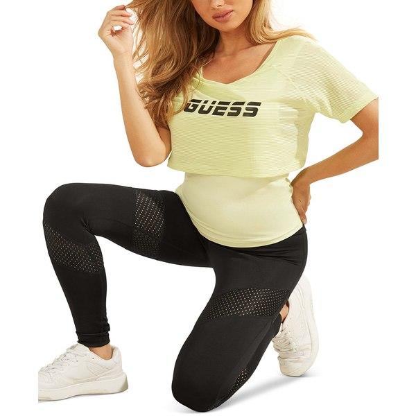 ゲス 男女兼用 レディース 誕生日プレゼント トップス Tシャツ Honeydew Logo T-Shirt Green Layered 全商品無料サイズ交換