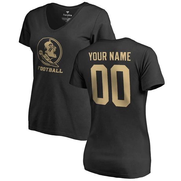 ファナティクス レディース Tシャツ トップス Florida State Seminoles Fanatics Branded Women's Personalized One Color TShirt Black