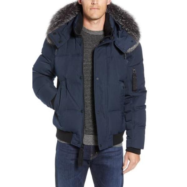 ジャケット&ブルゾン Bennet Fox Trim Genuine アウター Jacket メンズ Bomber アンドリューマーク Fur INK