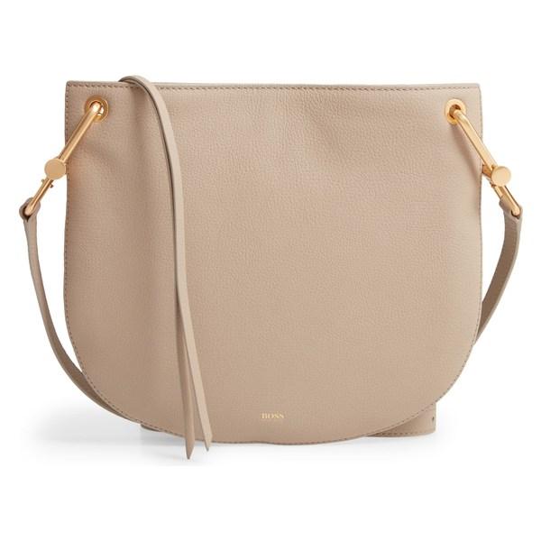 ボス レディース ハンドバッグ バッグ BOSS Kristin Leather Crossbody Bag Medium Brown
